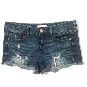 Express Destroyed Jean Shorts